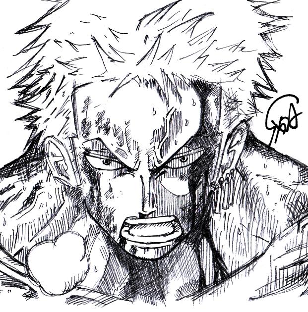 ONEP.jp  ゾロ (シャーペン画)  ワンピース画像書庫