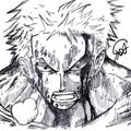 ゾロ (シャーペン画)
