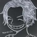 黒板の少年エース