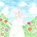 空と海と花と