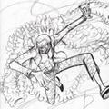 ドフラミンゴのラフ画