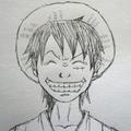 笑顔のルフィ